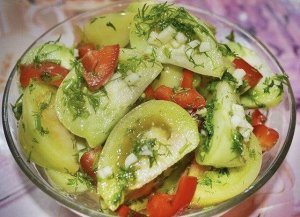 Зеленые помидоры на зиму по-армянски