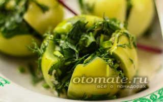 Зеленые помидоры по-грузински на зиму, самый вкусный рецепт