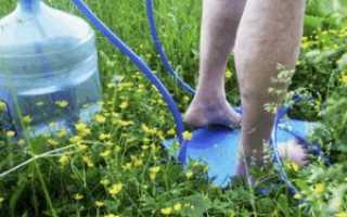 Душ-топтун: устройство и применение, походный душ своими руками
