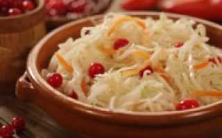 Квашеная капуста с клюквой на зиму – рецепт