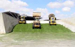 Принцип силосования кормов