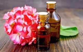 Масло герани: свойства и применение эфирной жидкости в быту (от клещей, комаров) и в косметологии (от морщин на лице, для волос), а также цена в аптеке